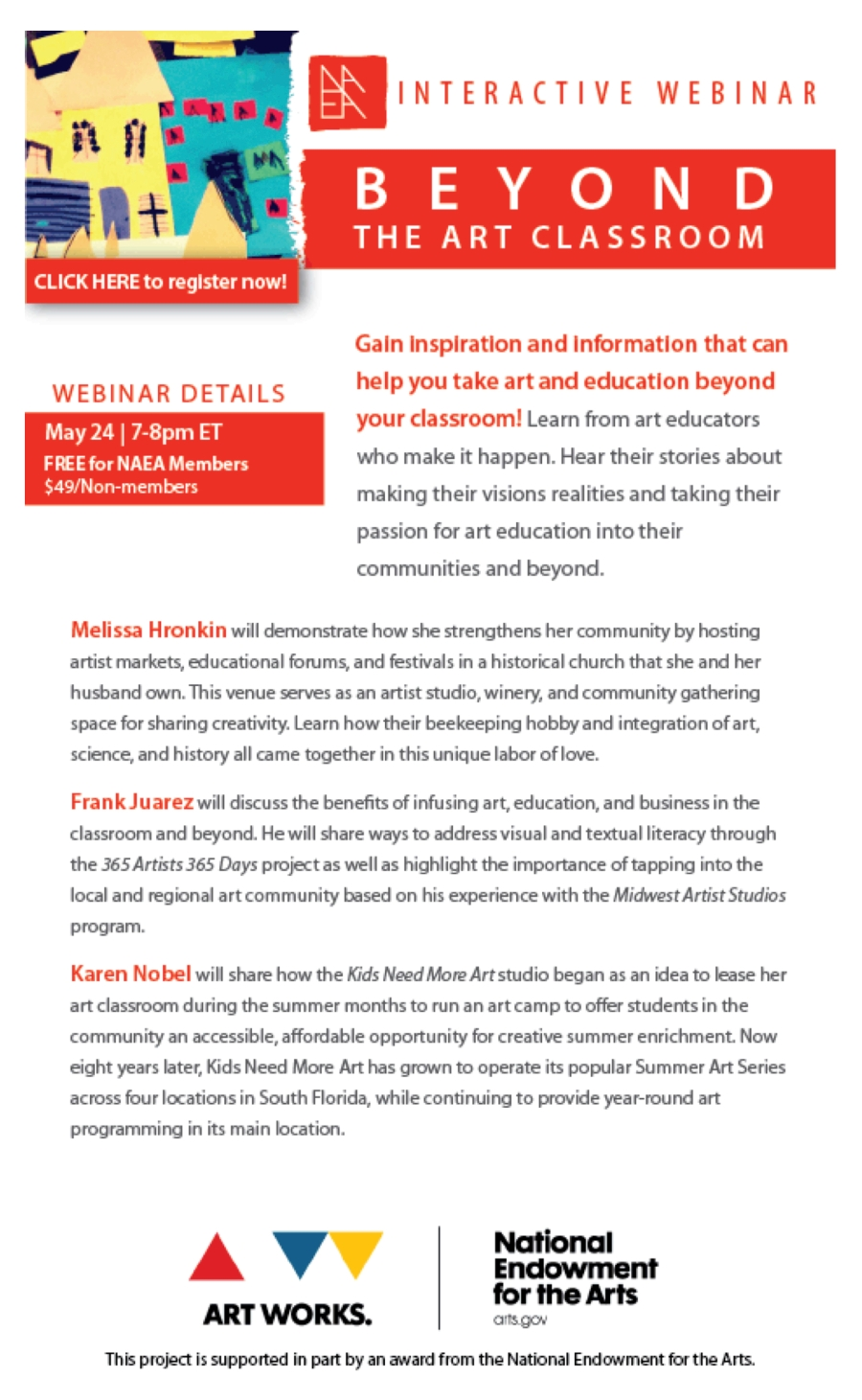[INTERACTIVE WEBINAR] Beyond the Art Classroom - May 24 | 7-8 pm ET